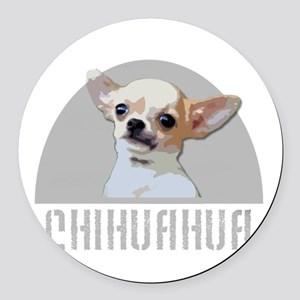Chihuahua dog Round Car Magnet