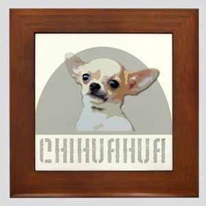 Chihuahua dog Framed Tile