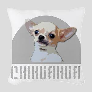 Chihuahua dog Woven Throw Pillow
