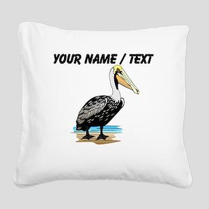 Custom Pelican Square Canvas Pillow