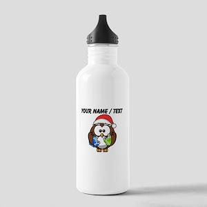 Custom Christmas Owl Water Bottle