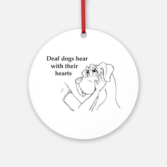Hear hearts Ornament (Round)