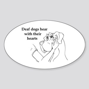 Hear hearts Oval Sticker
