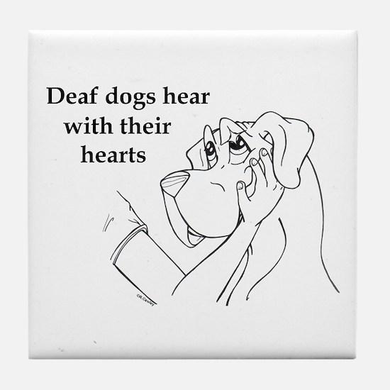 Hear hearts Tile Coaster