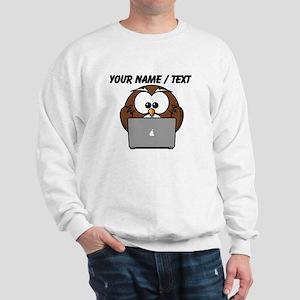 Custom Computer Nerd Owl Sweatshirt