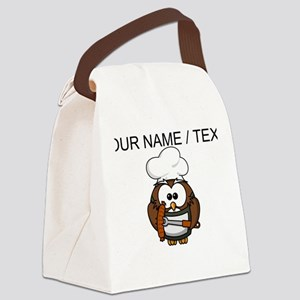 Custom Chef Owl Canvas Lunch Bag