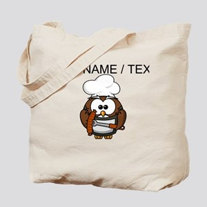 Custom Chef Owl Tote Bag