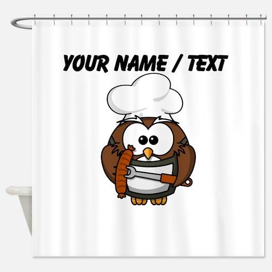 Custom Chef Owl Shower Curtain