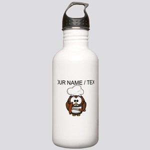 Custom Chef Owl Water Bottle