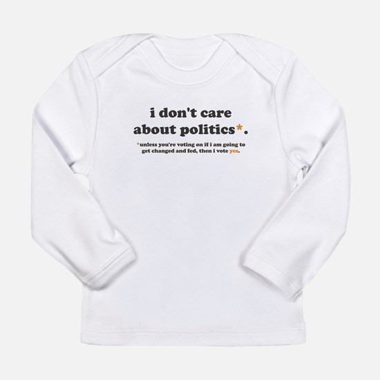 baby vote long sleeve infant t-shirt
