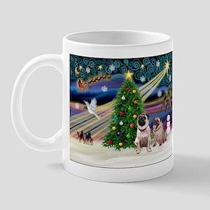 X Mas Magic & Pug Pair Mug