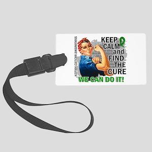 Rosie Keep Calm Kidney Cancer Large Luggage Tag