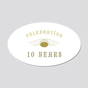 Celebrating 10 Years Of Marriage 20x12 Oval Wall D