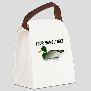 Custom Mallard Duck Decoy Canvas Lunch Bag