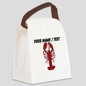 Custom Red Lobster Canvas Lunch Bag