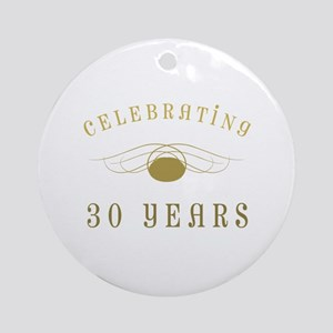 Celebrating 30 Years Of Marriage Ornament (Round)