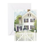 White Fence Greeting Cards