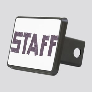 STAFF in duct tape font Rectangular Hitch Cover