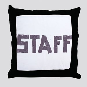 STAFF in duct tape font Throw Pillow