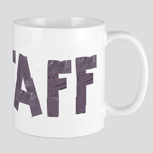 STAFF in duct tape font Mug