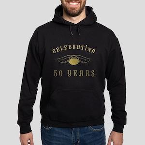 Celebrating 50 Years Of Marriage Hoodie (dark)