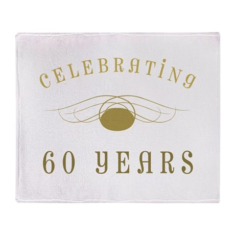 Celebrating 60 Years Of Marriage Throw Blanket
