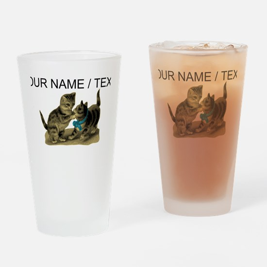 Custom Cute Kittens Drinking Glass