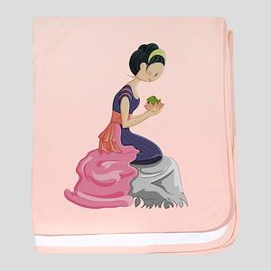 Frog Princess baby blanket