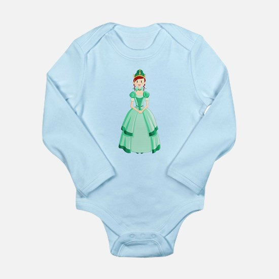 Green Princess Long Sleeve Infant Body Suit