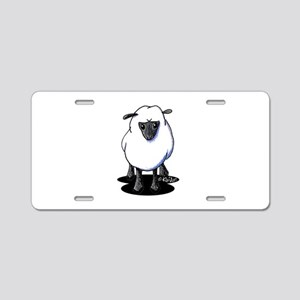 KiniArt Sheep Aluminum License Plate