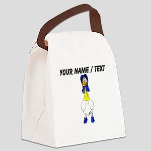 Custom Cartoon Goose Canvas Lunch Bag