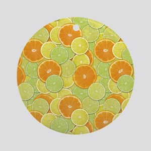 Citrus Benefits Ornament (Round)