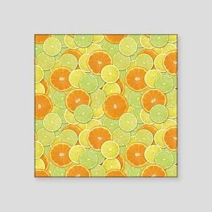 Citrus Benefits Square Sticker 3 x 3