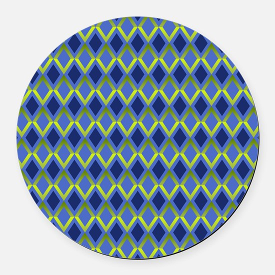 Cobalt Diamonds Round Car Magnet