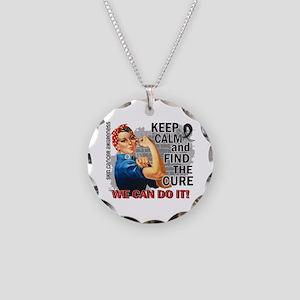 Rosie Keep Calm Skin Cancer Necklace Circle Charm