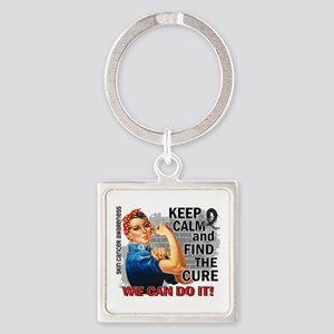 Rosie Keep Calm Skin Cancer Square Keychain