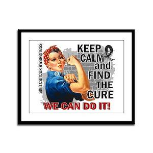 Rosie Keep Calm Skin Cancer Framed Panel Print