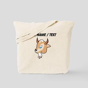 Custom Cartoon Goat Head Tote Bag