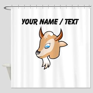 Custom Cartoon Goat Head Shower Curtain