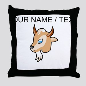 Custom Cartoon Goat Head Throw Pillow