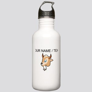 Custom Cartoon Goat Head Water Bottle