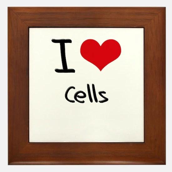 I love Cells Framed Tile