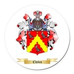 Chiles Round Car Magnet