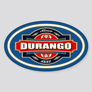 Durango Old Label Sticker (Oval)