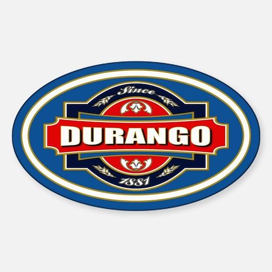 Durango Old Label Sticker (Oval)