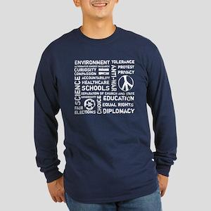 Liberal Values 2 Long Sleeve Dark T-Shirt
