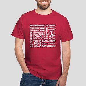 Liberal Values 2 Dark T-Shirt