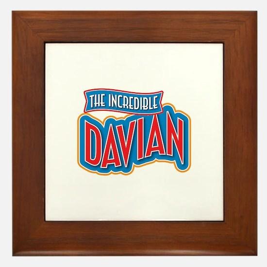 The Incredible Davian Framed Tile