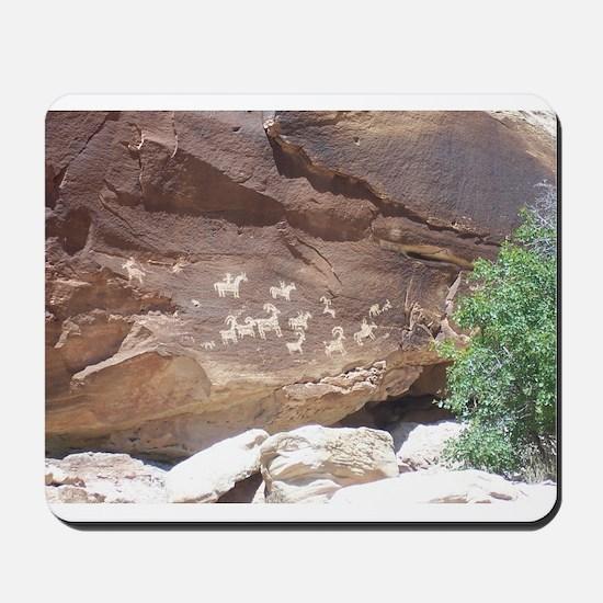 Native American Indian Rock Art - Petroglph Mousep