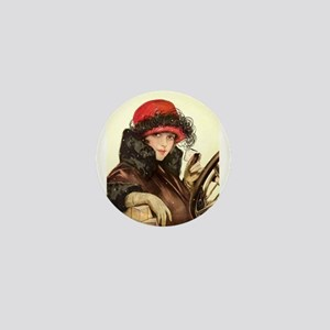 Flapper Fisher Girl Vintage Mini Button